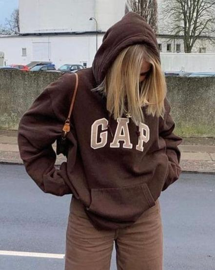 Letter Print Hooded Long Sleeve Sweatshirt