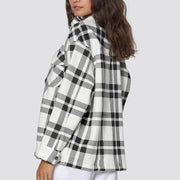 Casual Check Oversized Wool Shacket
