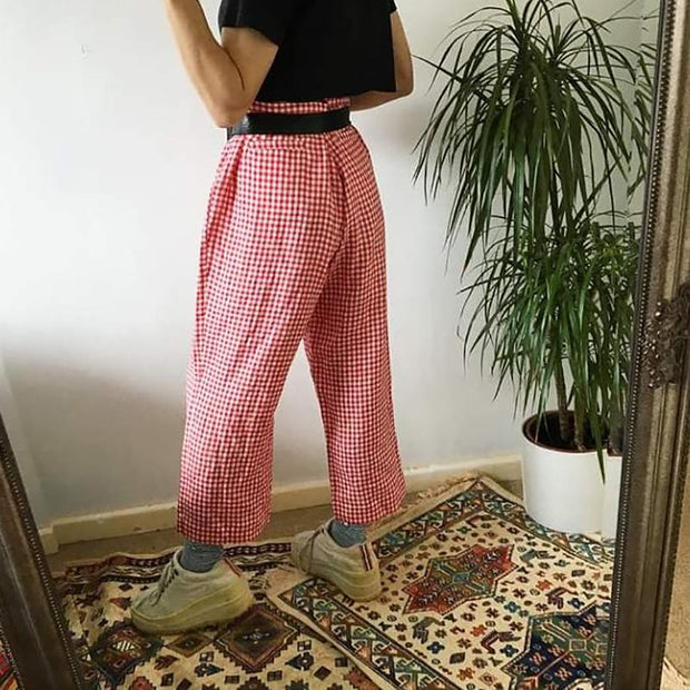 Modern Check Women's Pants