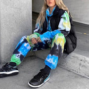Loose wild butterfly tie-dye casual pants