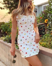 Fruit Print Mini Dress