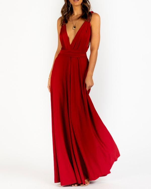 Sophie Wrap Dress - Wine