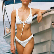 Women Ruffled Personality Special Cloth Bikinis