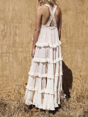 Woman's Bohemian Elegant Holiday Maxi Dress