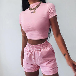 Woman casual exposed navel waist fashion Sets