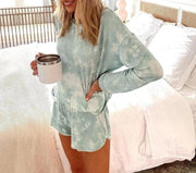 Women Tie dye gradient printing comfortable female home Sets