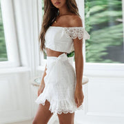 Sexy Lace Tube Top Two Piece Sets Mini Dress