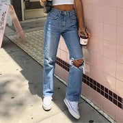 Women'S Jeans Ripped And Slim Jeans