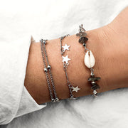 Women Geometric five-pointed star chain Bracelets