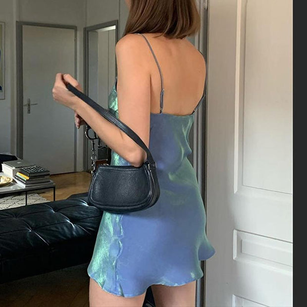 Woman casual sexy suspenders mini dress