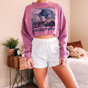 Round neck casual basic all-match long-sleeved sweatshirt