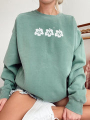 Modern Casual Printed Color Long Sleeve Sweatshirt