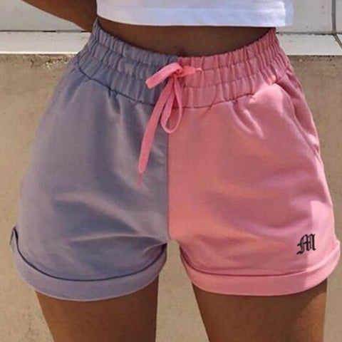 Woman Casual Loose Wild Sports Macaron shorts