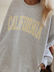 Round neck long sleeve California sweater