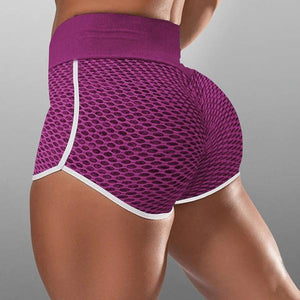 Woman jacquard high waist raised hip shorts