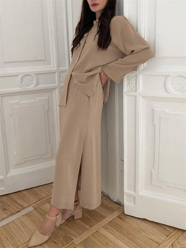 Fashionable Long-Sleeved Two-Piece Suit