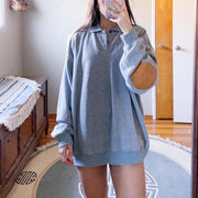 Short casual basic long sleeve sweatshirt