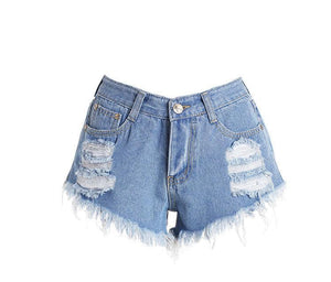Hot Selling Hole Denim Shorts