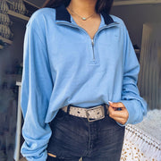 Short casual basic daily long sleeve sweatshirt