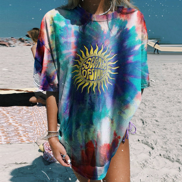 Tie-Dye Printed Casual T-Shirt