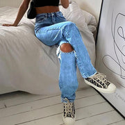 Women'S Ripped Jeans Trousers