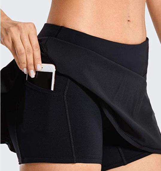 Woman high waist double layered pocket shorts
