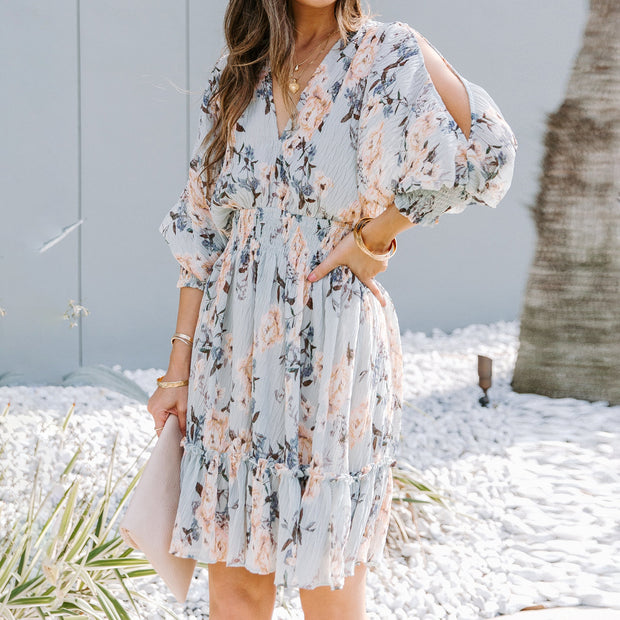 Fashion sling print mini dress