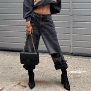 Autumn and winter fashion jeans