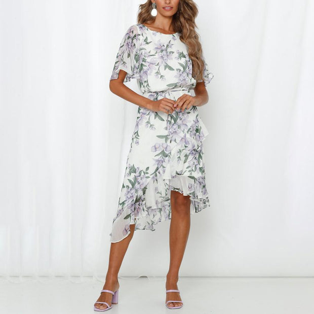 Bohemian seaside vacation Bali beach midi dress