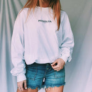 Fashionable simple letter printed long-sleeved sweatshirt