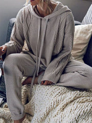Woman's gray casual long sleeve suits