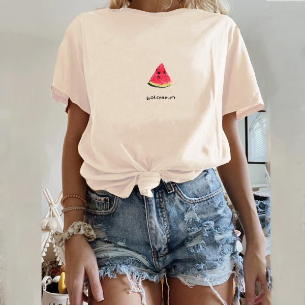 Short sleeve loose wild fruit T-shirt