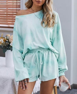 Women Tie dye Pajamas Loungewear Sets