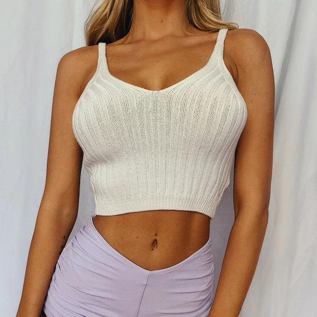 Woman fashion wild sexy short strap Crop tops