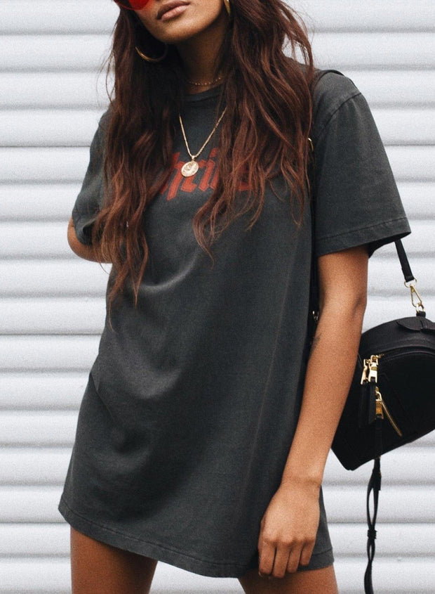 WOMEN THRILLS OVERSIZED LONG T-SHIRT