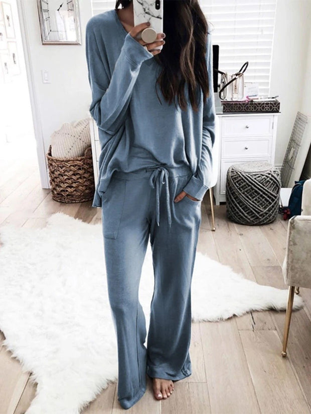 Woman Plus Size Long Sleeve Casual Sets