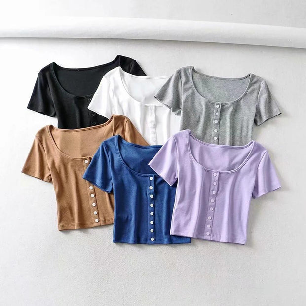 Slim Basic Crop Top
