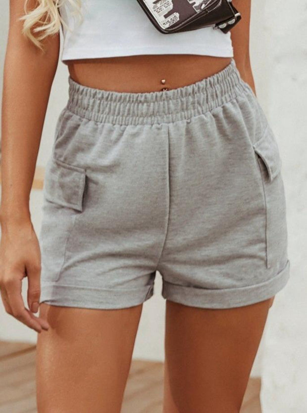 Woman All-match High Waist Pocket Casual Sports Shorts