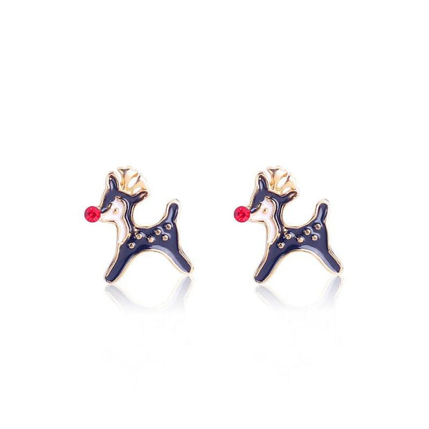 Fashion bell snowflake Christmas earrings