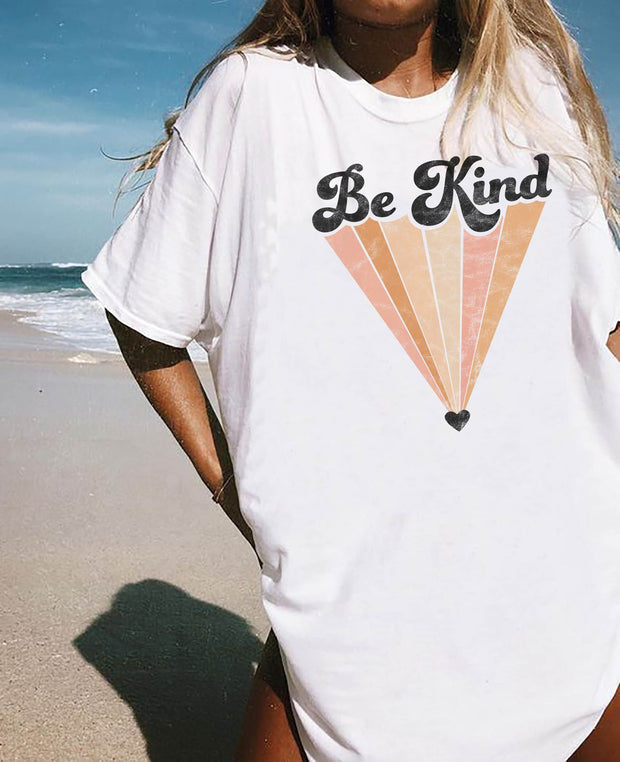 Women printed Be Kind wild T-shirt