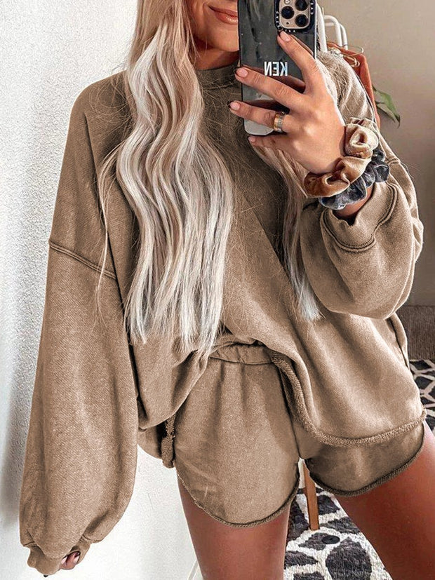 Loose Round Neck Top Loose Two-piece Suit