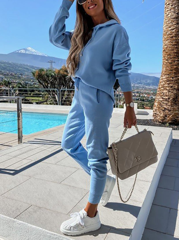 Sexy fleece loose casual suit