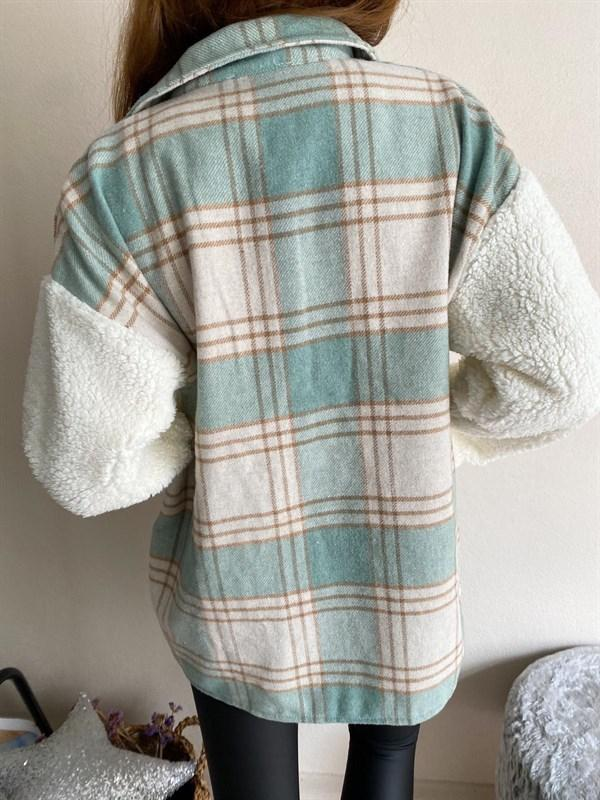 Women'S Fashion Casual Plaid Flannel Coat