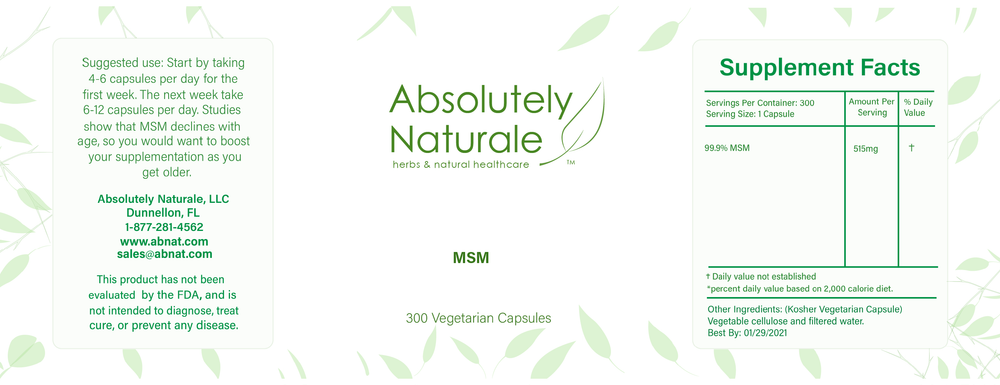 MSM is a naturally occurring chemical that our bodies produce which helps with inflammation in our cellular structures. Taken daily it is said to help with joint swelling, digestive problems, skin irritation, and so much more.