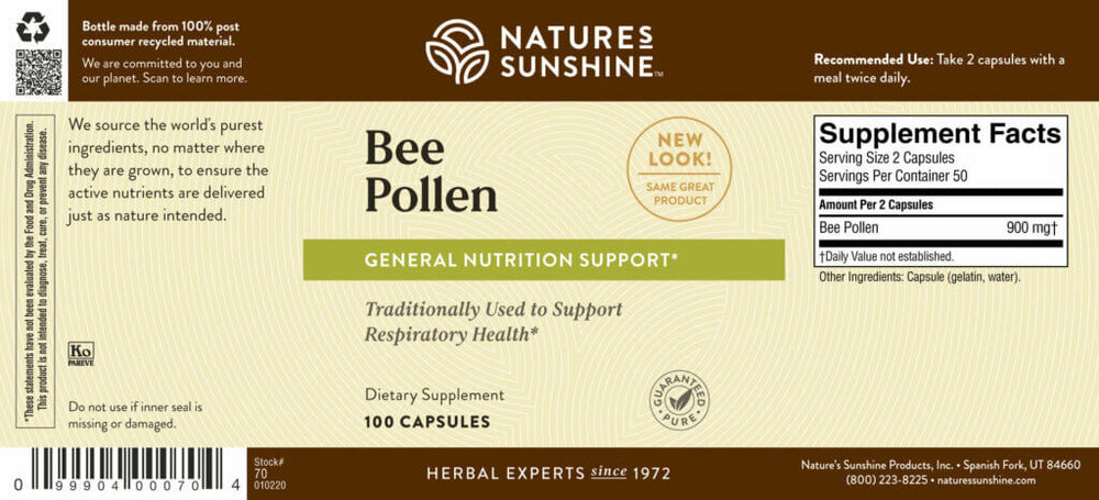 Bee Pollen has a strong nutritional profile that offers a natural energy boost.