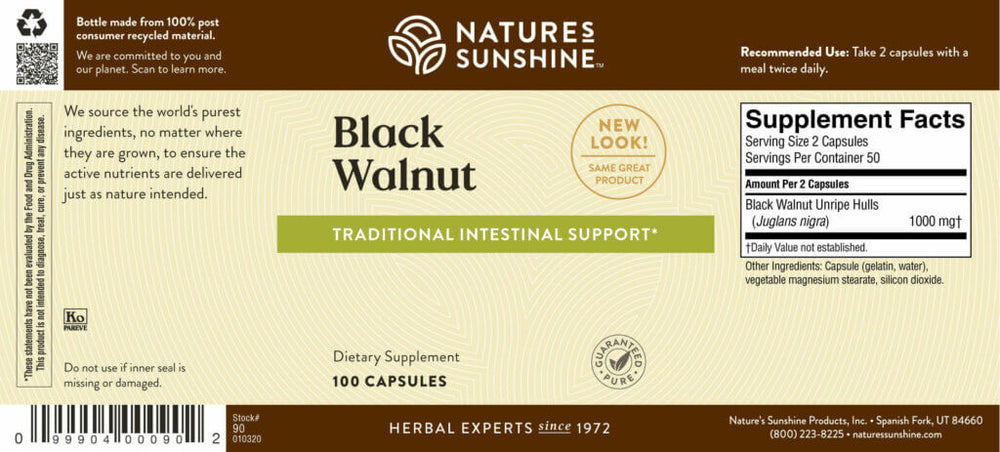 Load image into Gallery viewer, Black Walnut helps maintain the intestinal system and supports the immune system in its battle against invaders.