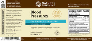 Blood Pressurex promotes optimal blood flow, supports blood pressure levels already in the normal range, and supports blood vessel and cardiovascular health.