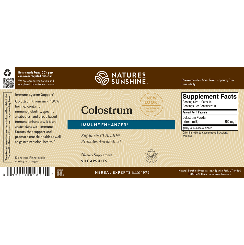 Colostrum supports the immune system and aids the growth and repair of tissues.