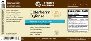 Elderberry D3fense features elderberry extract, vitamin D, and echinacea for powerful immune system support.