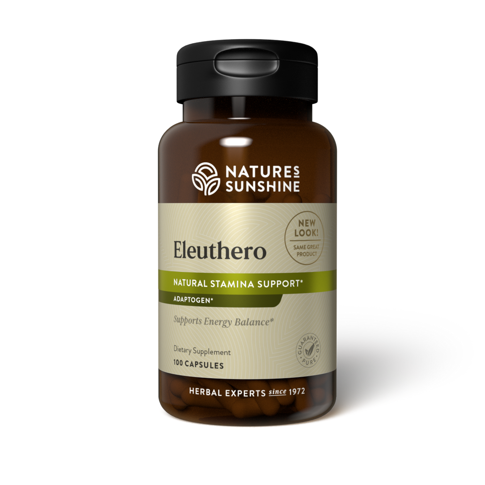 Eleuthero root is an adaptogenic herb that supports energy and helps maintain balance in the body.